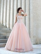 Ball Gown Strapless Satin Floor-Length Wedding Dress
