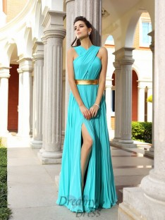 A-Line/Princess Chiffon Floor-Length Dress