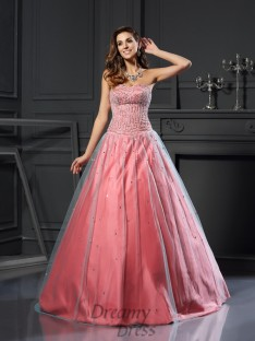 Ball Gown Satin Sweetheart Floor-Length Dress