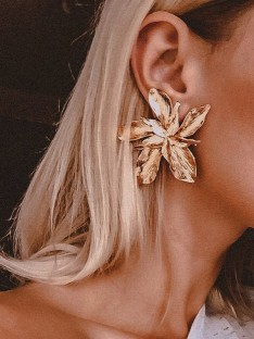 Floral Metal Earrings