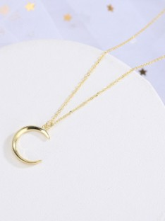 Korean Silver with Moon Necklaces