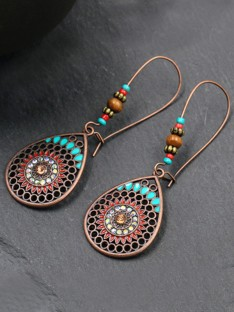 Bohemia Style Alloy Water Drop Earrings