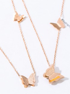 Titanium Hot Sale Necklaces with Butterfly