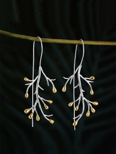 Tree Sterling Silver Earrings