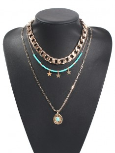 Alloy with Star Hot Sale Necklaces For Ladies