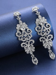 Rhinestone Earrings For Wedding Bridal