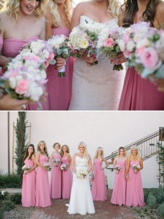 A-Line Sweetheart Long Chiffon Bridesmaid Dress