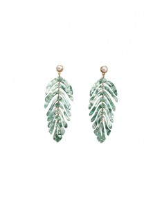 Alloy Leaf Earrings