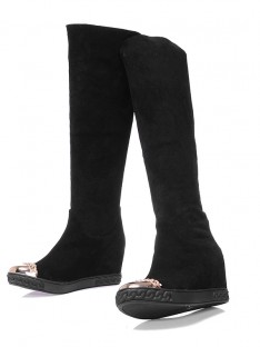 Suede Wedge Heel Knee High Boots S5MA0384LF