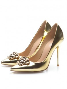 Gold Heel Evening Shoes S5MA0471LF