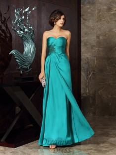 Sheath/Column Chiffon Sweetheart Floor-Length Mother of the Bride Dress