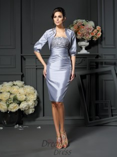 Sheath/Column Sweetheart Knee-length Taffeta Mother of the Bride Dress