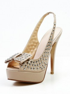 Rivet Platform Sandal Shoes SMA03070LF