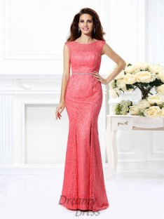 Trumpet/Mermaid Bateau Floor-Length Lace Dress
