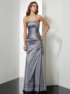 Trumpet/Mermaid Halter Floor-length Taffeta Dress