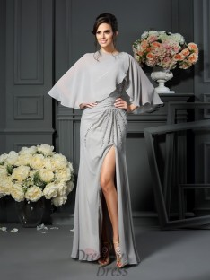 Trumpet/Mermaid One-Shoulder Chiffon Floor-Length Mother of the Bride Dress